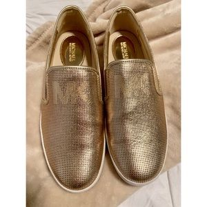Gold MK Shoes